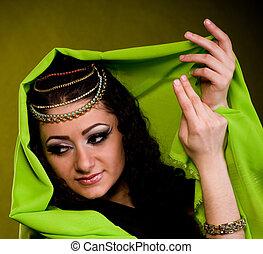 mulher, cor, árabe, roupas
