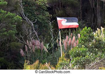 Travel Photos New Zealand - Maori - Flag of Tino...
