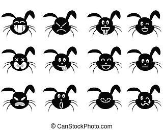 cartoon rabbit face icon