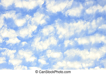white clouds on blue sky - White clouds blue sky with space