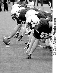 American Football, Offensive Linemen, Concept: Move Forward,...