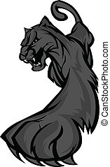 Prowling Panther Mascot Body Vector - Graphic Mascot Vector...