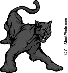 Panther Mascot Body Vector Image - Graphic Mascot Vector...
