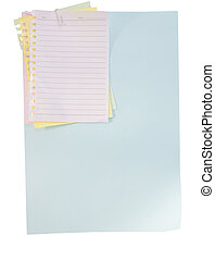 paper sheet and clip on white background