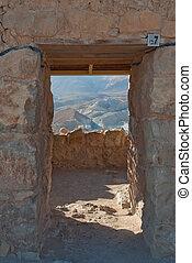 Door in the Masada ruins