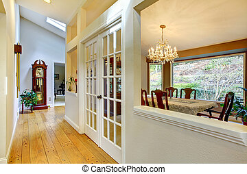 Large hallway and dining room inteior - Hall way and dining...