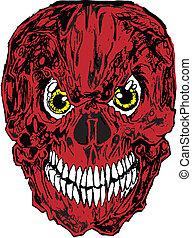 Red Skull Tattoo Vector