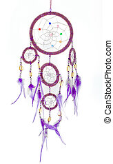 Dream catcher with shiny beads - Indian native american...