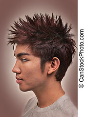 Hair - Asian man with a nice haircut and hairstyle