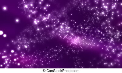 Purple Cosmic Particles Loop