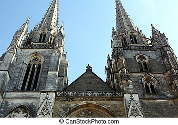 Church towers - The cathedral of St-Marie in Bayonne...