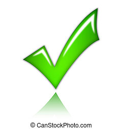 Check mark - Illustration of green check mark