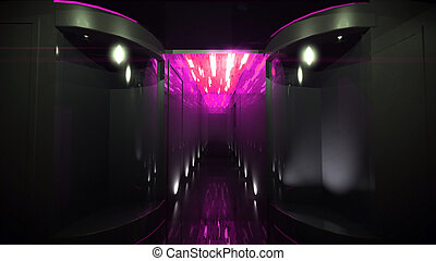 The pink of Space Corridor
