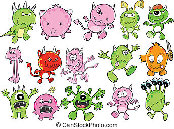 Monster Alien Vector Set