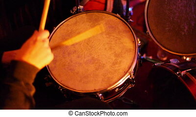 Drum Kit Close Up 4 - A high angle of a drum kit being...