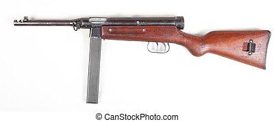 old submachine gun