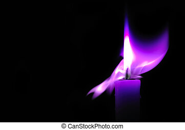 Eternal fire - Abstraction the candle image on a black...