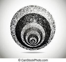 Magic abstract sphere - Magic sphere with black-and-white...