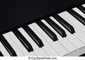 Piano keys - The realistic vector image a piano key