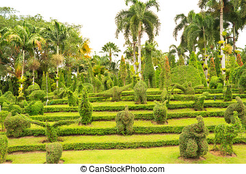 Garden With Animal Shaped Design