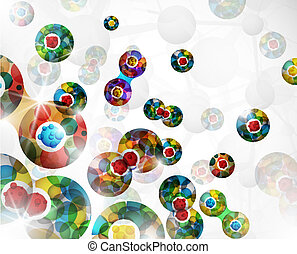 Cell division - Background with an abstract image of the...