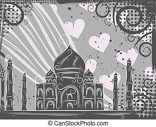 Taj Mahal background - Background in grunge style to the Taj...