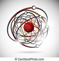 Abstract atom - Abstract image of an atom with electrons....