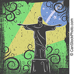 Statue of Christ the Redeemer background - Background in...