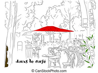 Cafe on the Champs-Elysees 2. - Cafe on the Champs-Elysees....