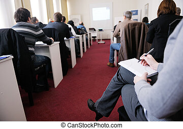 business people group on seminar - business people group...