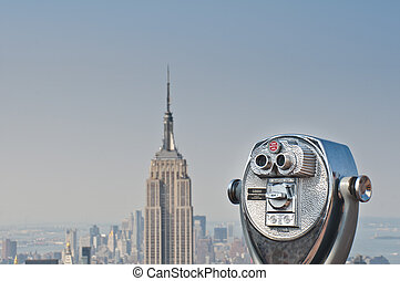 New York City - Observation deck from Top of the rock New...