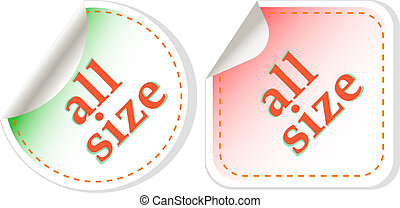 all size clothing stickers label set