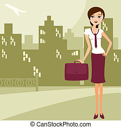 bussines woman 1 - illustration in a ilustrador eps file