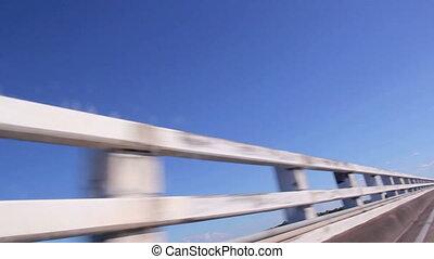 Passing Bridge Railings - Passing bridge railings at speed...