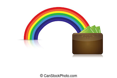 wallet at the end of a rainbow