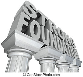 forte, fundação, palavras, Mármore,...