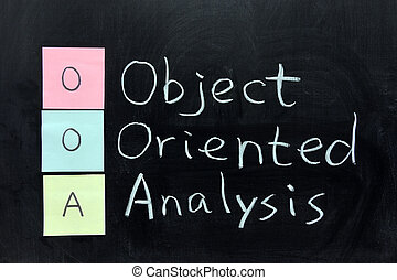 OOA, Object Oriented Analysis - Chalk writing - OOA, Object...