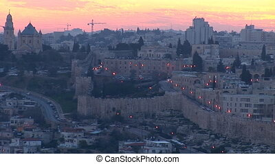 Jerusalem old sunset 7 - Jerusalem - sunset over the old...
