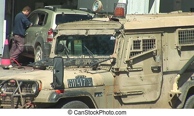 Israel army car