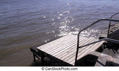 Small Boardling Jetty - Small boarding jetty by the water...