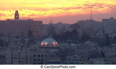 Jerusalem old sunset 3 - Jerusalem - sunset over the old...
