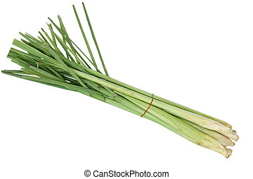 Lemongrass - Bundle of fresh lemongrass isolated on white