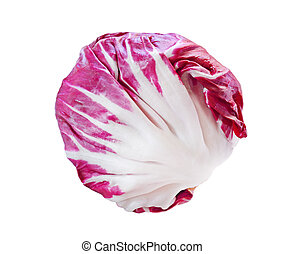 Radicchio - Fresh radicchio red cabbage isolated on white...