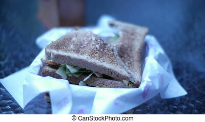 Sandwich Timelapse 2 - A timelapse of a sandwich being...