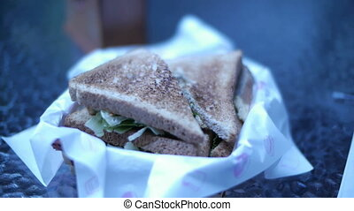 Sandwhich Timelapse 1 - A timelapse of a sandwich being...