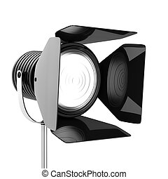 Spotlights - 3d render of black spotlights on a white...