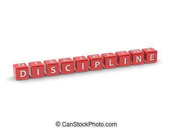 Discipline - Rendered artwork with white background