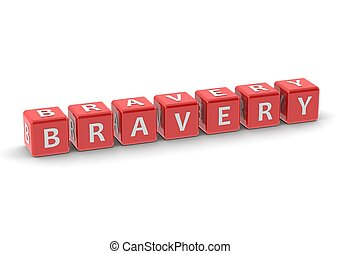 Bravery - Rendered artwork with white background