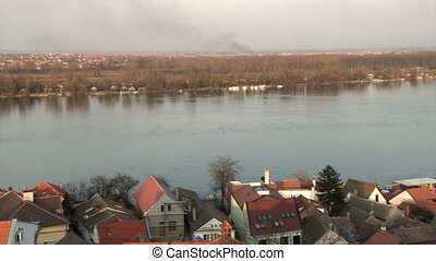 Belgrade, Zemun, Danube river, panoramic view