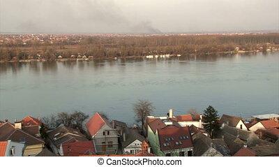 Belgrade, Zemun, Danube river, panoramic view